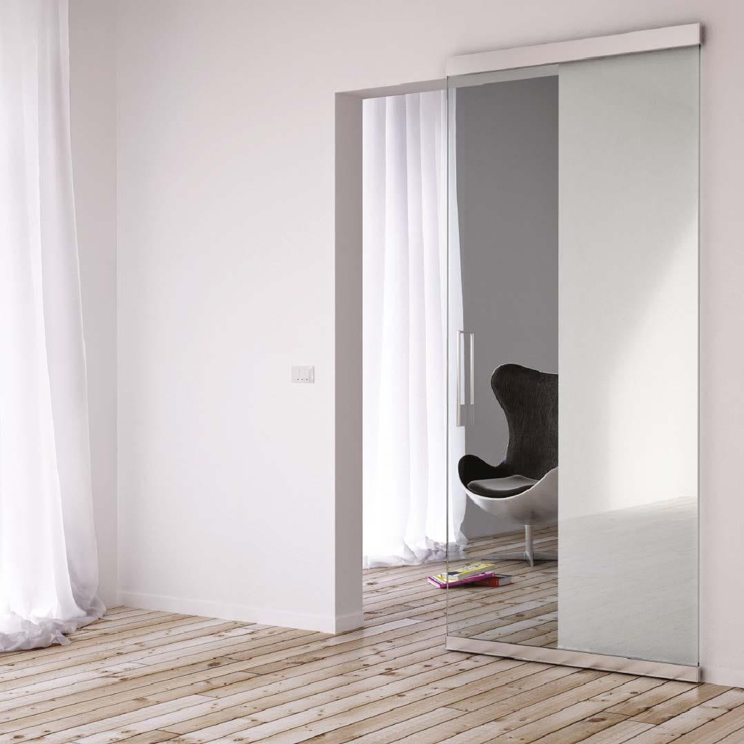 Guía corredera para puertas de cristal Magic Vidrio