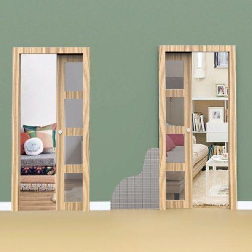 premarco para puertas correderas dobles contrapuestas Brio