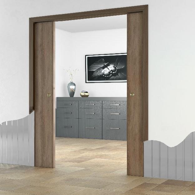 premarco para puertas correderas dobles